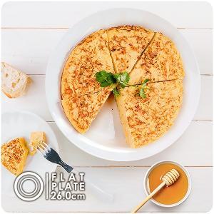 フラットビッグプレート 26cm アウトレット込 日本製 美濃焼 陶器 白い食器 白磁 真っ白 ディナープレート ワンプレート 大きい 大きなお皿 北欧風 カフェ風 k-s-kitchen