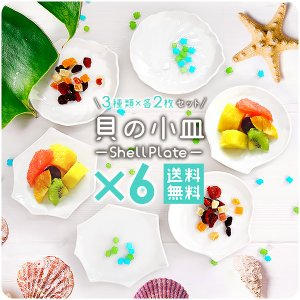 艶のある滑らかな質感と真っ白な白磁が美しい貝の小皿。 遊び心種れる3種の貝の形は、どれも目を引くデザ...