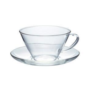 (HARIO) 最安値に挑戦  お一人様3個まで ハリオ 耐熱ティーカップ&ソーサー・ワイド 満水容...
