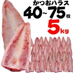 生鮮かつお水揚日本一気仙沼のプロ目利き仲買人買付。  自慢鰹のたたき加工時の腹部分(ハラス)をお手頃...