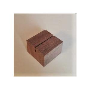 木のカード立て ウォールナット角(木製)