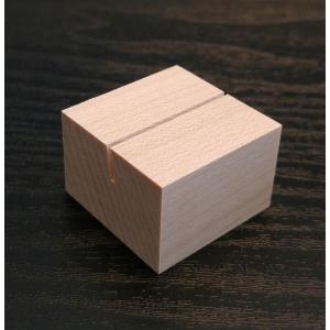 木のカード立てメープル角(木製)