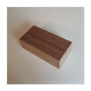 木のカード立て ウォールナット角長(木製)