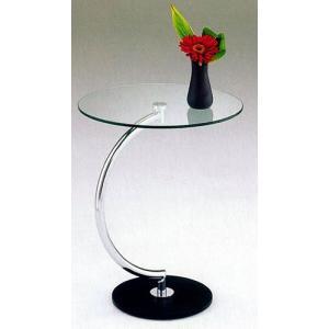 サイドテーブル ガラステーブル インテリア ベッドサイド ソファサイド|k-style