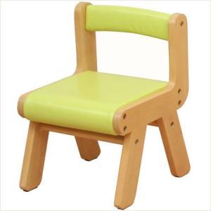 子供椅子 キッズチェア 木製 グリーン 子供 チェア 001|k-style