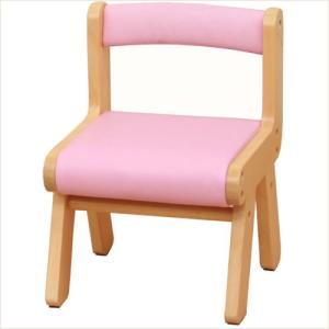 子供椅子 キッズチェア 木製 ピンク 子供 チェア 001|k-style