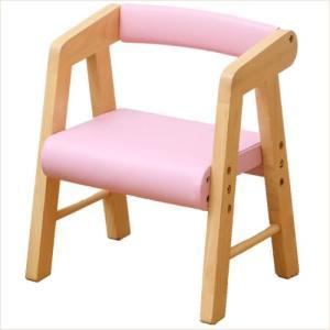 子供椅子 キッズチェア 肘付き 木製 ピンク 子供 チェア 001|k-style