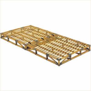 籐 すのこ シングルベッド  籐枕付き ベッド すのこベッド|k-style