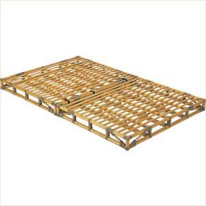 籐 すのこ セミダブルベッド 籐枕2個付 ベッド すのこベッド|k-style