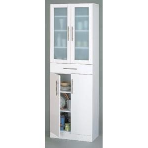 食器棚 キッチン収納 隙間収納 ホワイト シンプル チェスト 幅60cm|k-yorozuya
