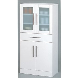 食器棚 キッチン収納 隙間収納 ホワイト シンプル  幅60cm|k-yorozuya