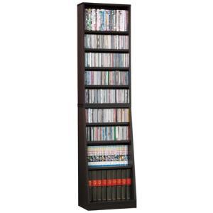 本棚 書棚 文庫本 コミック収納 幅45cm ブラウン ラック 百科事典も|k-yorozuya