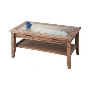 ルーアン センターテーブル天然木強化ガラス天板|k-yorozuya