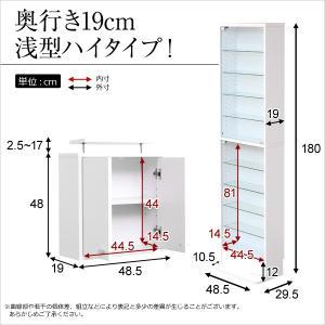 コレクションラック -Luke-ルーク 浅型ハイタイプ セット(本体+上置き)|k-yorozuya|02