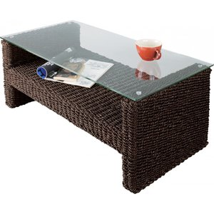 ガラススクエアテーブル ローテーブル リビングテーブル 長方形 送料無料 アジアンテイスト 籐 |k-yorozuya