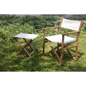 ガーデンチェア ガーデンチェアー 背もたれ付き ディレクターチェア 折りたたみ 折畳み ガーデンファニチャー 天然木ガーデン スツール|k-yorozuya