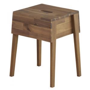 トーラ スツールアカシア オイル仕上げ 椅子 チェア 腰かけ木製 アウトドアに|k-yorozuya