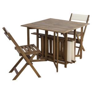 ダイニング5点セット 折りたたみ木製チェア バタフライテーブル オイル仕上げ アウトドア ガーデン|k-yorozuya|02