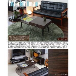 ガラス収納テーブル収納 ガラス製 コーヒーテーブル k-yorozuya 02