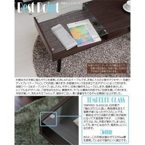 ガラス収納テーブル収納 ガラス製 コーヒーテーブル k-yorozuya 03