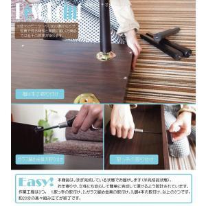 ガラス収納テーブル収納 ガラス製 コーヒーテーブル k-yorozuya 05