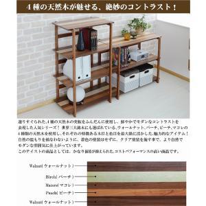 木製ラック 3段 オープンラック 天然木 棚 幅85 シェルフ 北欧 収納 k-yorozuya 02