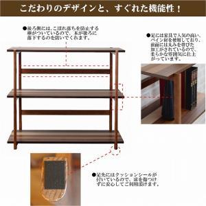 木製ラック 3段 オープンラック 天然木 棚 幅85 シェルフ 北欧 収納 k-yorozuya 03