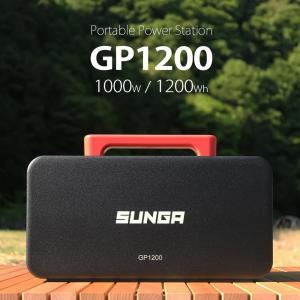 ポータブル電源 GP1200 1200Wh 1000W 純正弦波出力 BMS機能内蔵 50/60Hz...