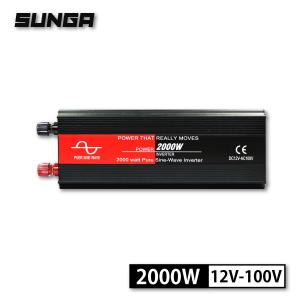 SUNGA インバーター 正弦波 2000W 100V 12V USB出力 50/60Hz切替 カー...