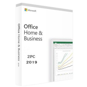 最新 Microsoft Office Home and Business 2019 for 2PC...