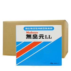 汲み取りトイレ 消臭剤 無臭元LL 200g×5袋/箱×16箱 汲み便所 悪臭対策 微生物製剤 持続型脱臭剤|ka-dotcom