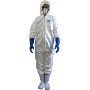 害虫駆除・殺菌作業時の着用に 防護服タイベック ディスポウェア フード付つなぎ服 [LLサイズ] 防護服|ka-dotcom