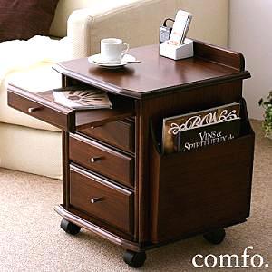 ベッドやソファサイドが快適になる、コンセントつき天然木サイドテーブル【comfo】コンフォ SALE セール ka-grande