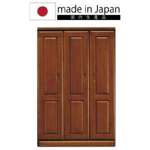 [国産]幅120cmワードローブ2段吊タイプ&1段吊+棚タイプ木製洋服箪笥たんす服吊りクローゼット日本製ブラウン kaagu-com