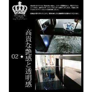 OPUSオーパス 幅120cm×60cm デザインスモークガラス 下段ブラックガラステーブル センターテーブル リビングテーブル モノトーン系 ローテーブル黒|kaagu-com|04