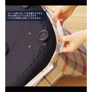 2脚組 クリーニング可能 カバーリング仕様 1人掛けチェアー カバー&木脚 取り外し可能 可愛いチェック柄 布張りチェア ファブリック張り 座椅子 グレー kaagu-com 02