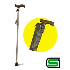 安心のSGマーク付!長さ調節機能付き♪折り畳み杖◆カバー付ステッキ|kaagu-com