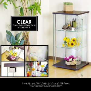 ミドルタイプガラスコレクションボード3段 コレクションラック ディスプレイラックキュリオケース ショーケース コレクションケース kaagu-com