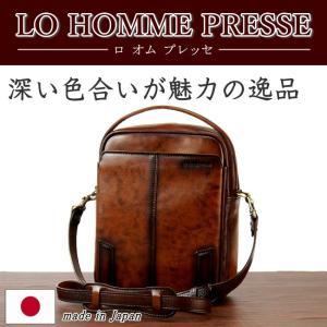 LO HOMME PRESSE アルカイック 牛革 縦型2WAYショルダーバッグ 71864 日本製  メンズ レザー kaban-kimura