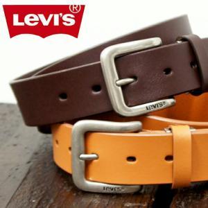 メンズベルト/Levis  リーバイス 牛革ベルト 3.5cm幅 長さ調節可能 100cmまで/15116020/メンズ レザー 父の日 プレゼント kabanya