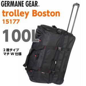 ボストンキャリーバッグ  メンズ 大容量 ボストンバッグ キャリーバッグ トロリー 旅行 GERMANE GEAR トロリーボストン2室式 15177 kabanya