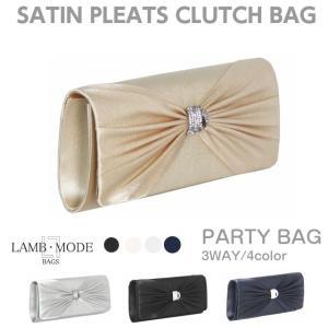 結婚式 バッグ/LAMB MODE リボン クラッチバッグ/23770/パーティーバッグ クラッチ レディース|kabanya