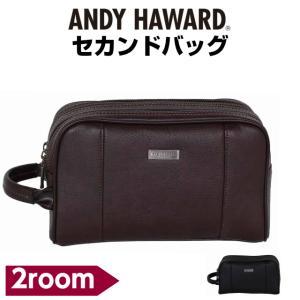 セカンドバック メンズ ANDY HAWARD シボ合皮 2室式 2way セカンドバック 25cm 25857 人気 おしゃれ 持ち手 父の日|kabanya