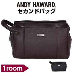 セカンドバック メンズ  50代 ANDY HAWARD シボ合皮 セカンドポーチ 日本製 26cm 25859 人気 おしゃれ  父の日|kabanya