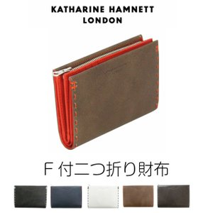 二つ折り財布 ラウンドファスナー メンズ/KATHARINE HAMNETT キャサリンハムネット  L字ファスナー二つ折財布/490-51913|kabanya