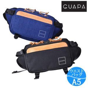 ウエストバッグ メンズ レディース 防水 GUAPA グアパ DONAU ウエストバッグ 51006 ボディバッグ ウエストポーチ 斜めがけ ヒップバッグ|kabanya