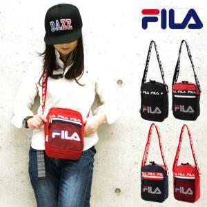 ミニショルダーバッグ FILA フィラ タテ型 ショルダー 7618 黒 赤 紺 斜めがけバッグ メンズ  レディース|kabanya