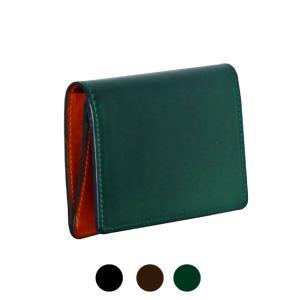 名刺入れ/CORDOVAN(コードバン) 日本製 カードケース/ly1002/高級馬革 革 ブランド メンズ  カード入れ レザー 名刺ケース 二つ折り 父の日 プレゼント|kabanya