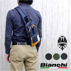 ボディバッグ メンズ/Bianchi(ビアンキ)ボディバッグ/nbtc01/ワンショルダーバッグ 斜めがけバッグ 斜め掛け|kabanya