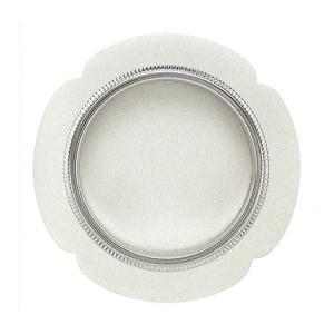 ふすまの引き手 花びらデザイン 銀のアクセント付 シノ ツキエス S-211 (1個単位)|kabegamiya-honpo